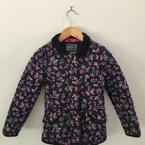 Joules Fall jacket in floral pattern size 6